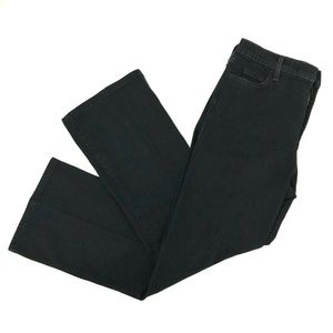 NYDJ Wide Leg Jeans Sz 10P Petite Black Stretch